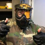 Paintball headshot bij Let's Paintball Friesland